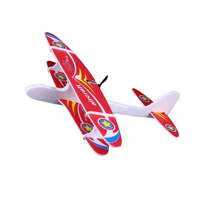 Outdoor Sports Electric Hand Throw Flying Glider Plane Toys Flying In The Sky For Long Time Foam Aeroplane Model