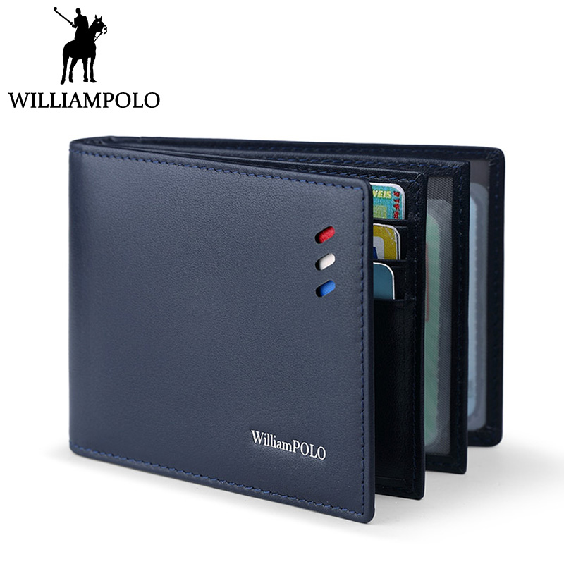 WILLIAMPOLO Driver License Holder Credict Card Holder Genuine Leather Thin ID Card Case 2018 New Black Blue Brown Driver Case