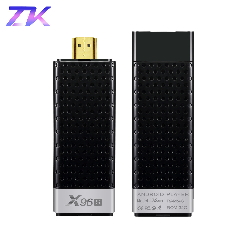 Mini PC X96S Android 8 1 TV Stick DDR4 4GB RAM 32GB ROM Amlogic S905Y2  2 4&5G Dual WIFI BT4 2 H 265 4K HD Smart TV Box PK H96