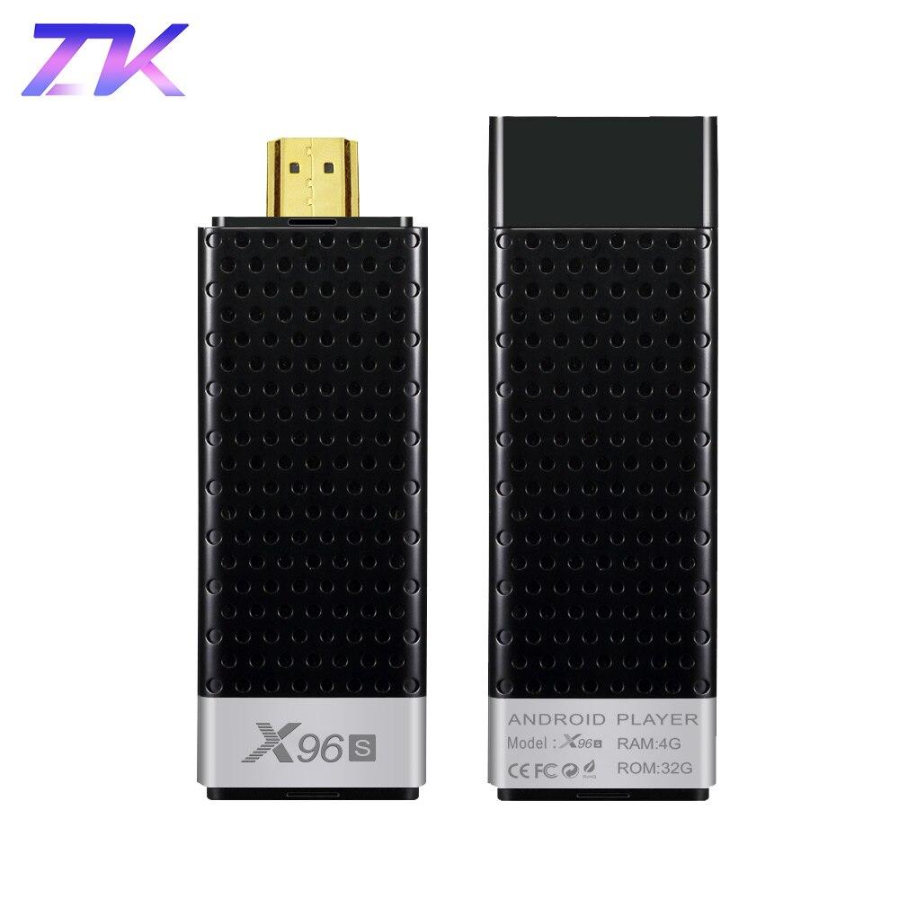 Mini PC X96S Android 8 1 TV Stick DDR4 4GB RAM 32GB ROM