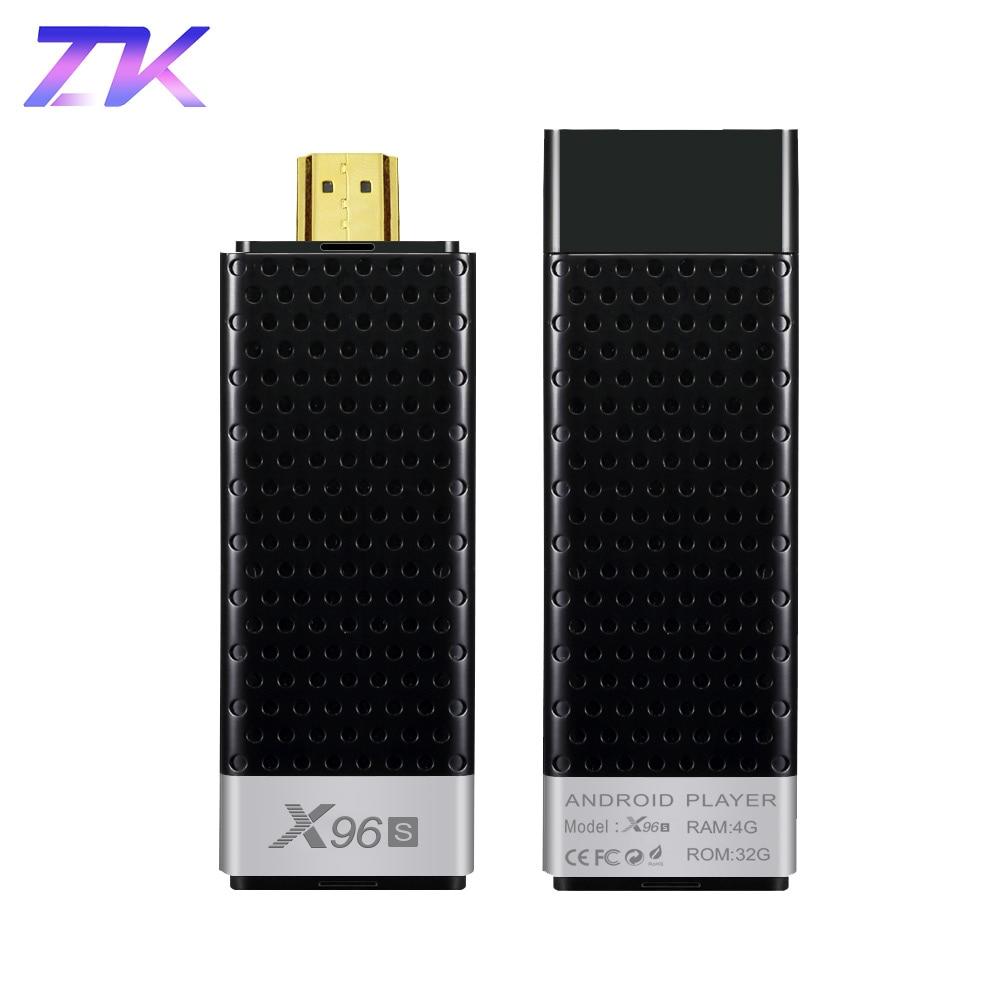 Mini PC X96S Android 8.1 TV Stick DDR4 4GB RAM 32GB ROM Amlogic S905Y2 2.4&5G Dual WIFI BT4.2 H.265 4K HD Smart TV Box PK H96