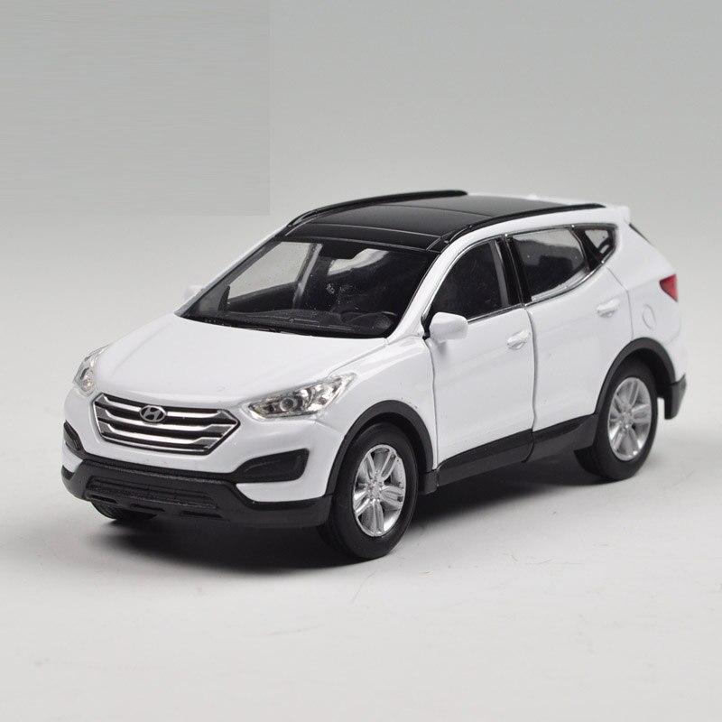 children kids welly welly hyundai santafe model car 136 diecast metal alloy cars toy pull back gift original box