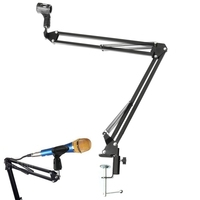 Mic Stand Holder Microphone Scissor Arm Suspension Boom Mount Shock Holder Studio Sound Broadcasting For Studio