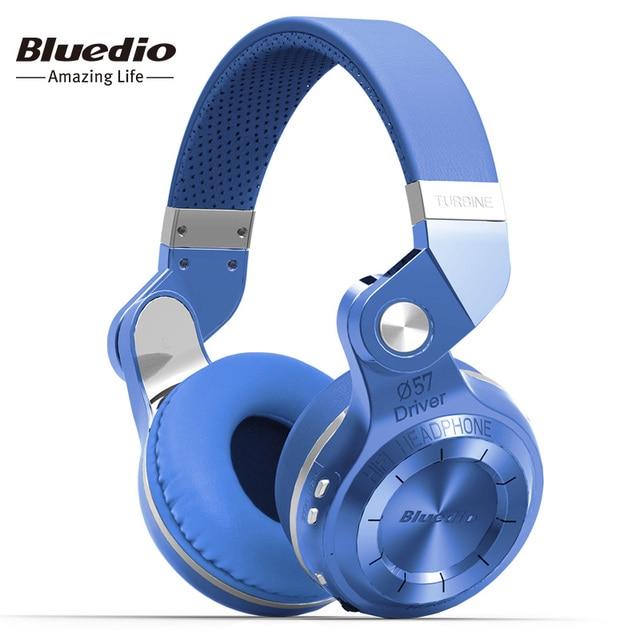 Bluedio T2S (турбина2 дистинктивный) инновационный завёрнутый внутрь дизайн, Bluetooth-гарнитура с оголовьем, новейший bluetooth 4.1,   большая совместимость, HiFi наушники( синий )