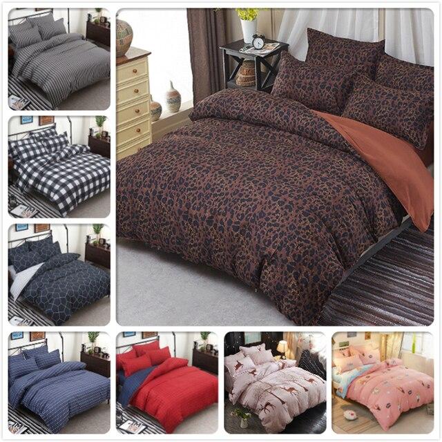 Leopard Muster Bettwäsche Set 4 Stücke Bett Leinen Weiche Baumwolle