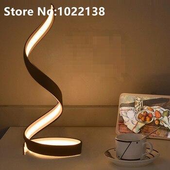 Tafellamp Slaapkamer Naast Licht Eenvoudige Moderne Studie Bureaulamp Nordic Art Decor Lamp Woonkamer Wit LED Tafellamp