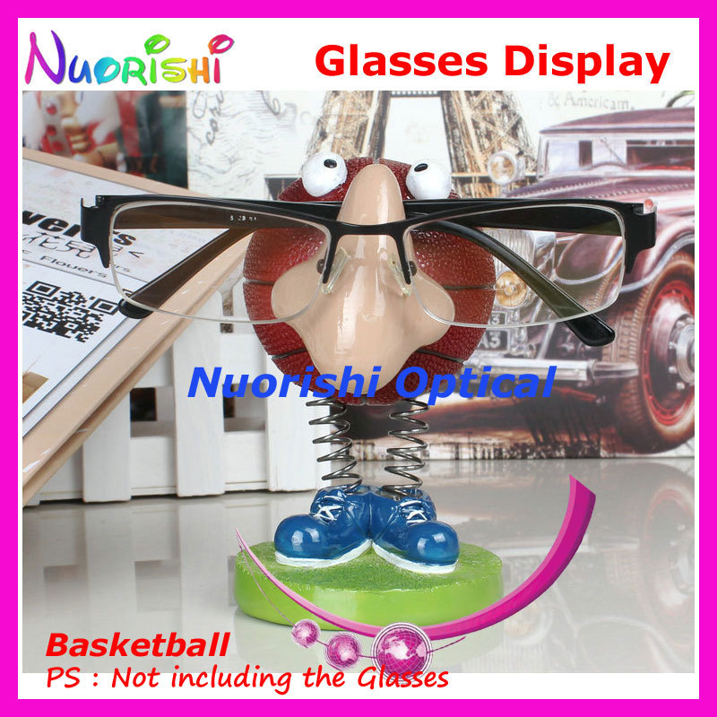 Cute Cartoon Basketball Eyeglass Sunglasses Glasses Display Stands Props Shelf Store Household Car Decoration CK01 Free Shipping image