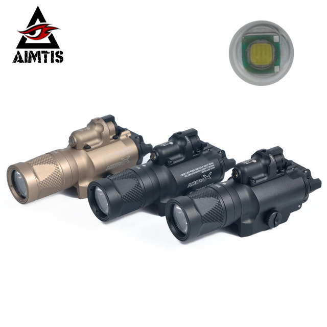 AIMTIS Tactical X400V Pistol Light Combo Red Laser Constant / Momentary / Strobe Output Weapon Rifle Gun Flashlight