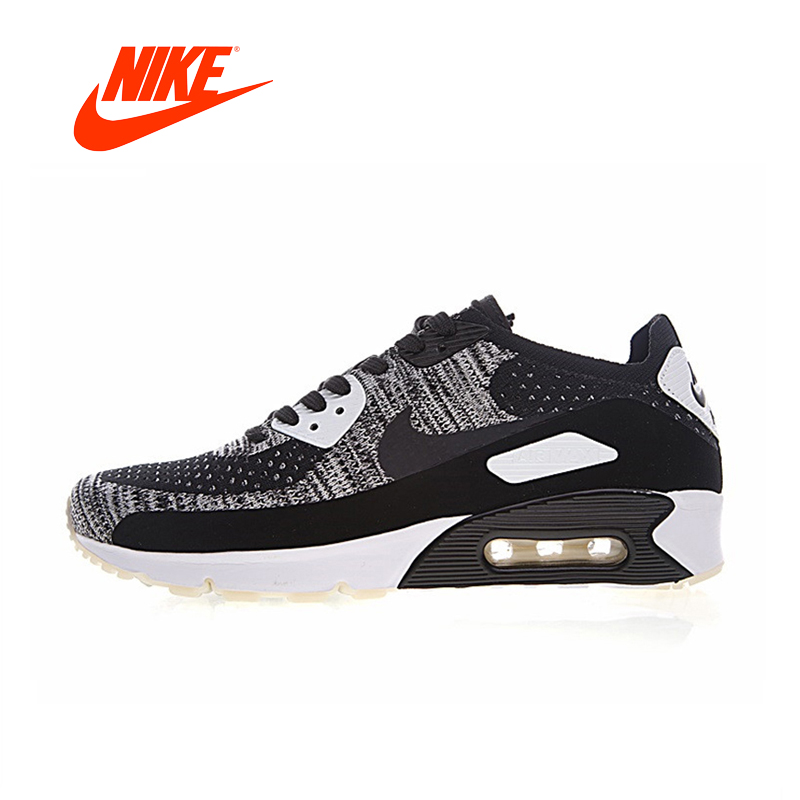 Original New Arrival Authentic NIKE Air Max 90 Ultra 2.0 Flyknit Men's Breathable Running Shoes Outdoor Sneakers 875943-001 original new arrival authentic nike air max 90 ultra 2 0 flyknit men s running shoes breathable lightweight non slip outdoor