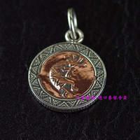 Véritable gv, New argent et cuivre mix indienne style médaillon pendentifs