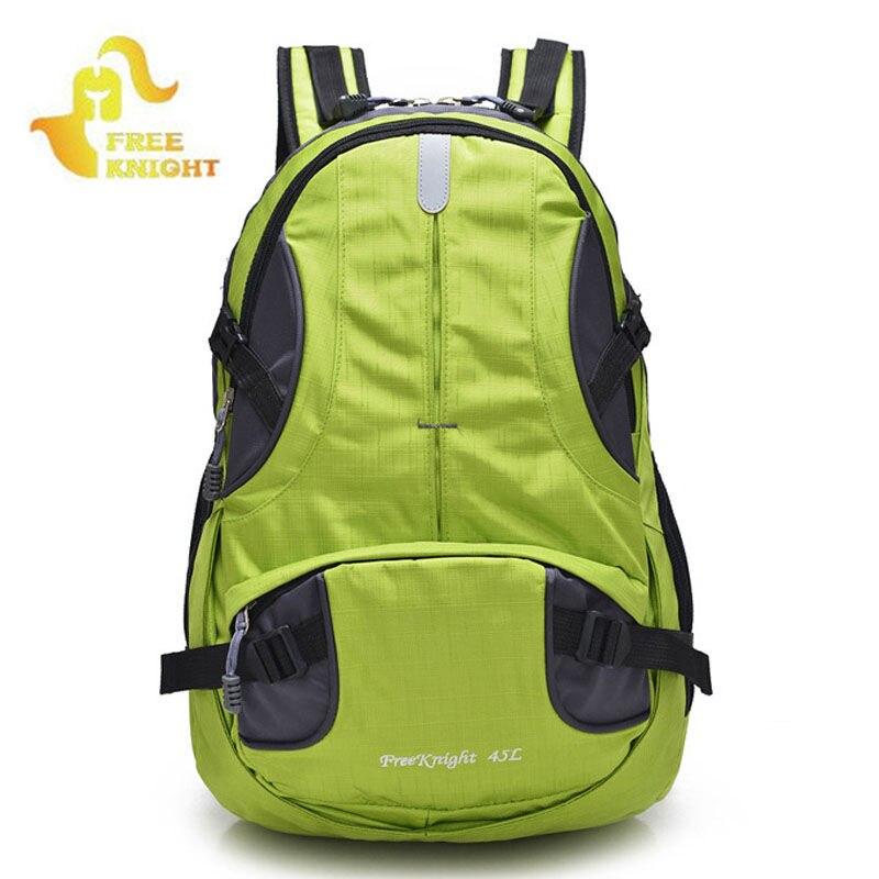 Free knight deportes al aire libre mochila bolsa de viaje mochila mujeres de los