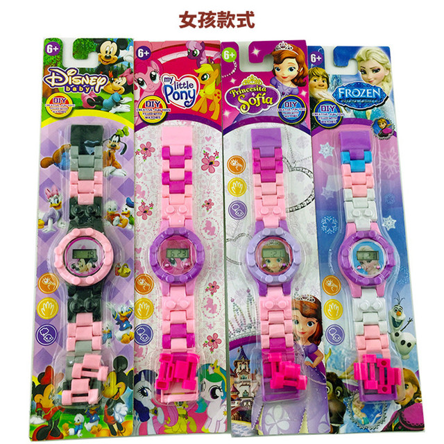 2019 Children's Cartoon Toys Digital Watch Avengers KT Cats Frozen Building Bloc