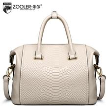 ZOOLER2016 new high-quality luxury fashion brand leather handbag diagonal package counter genuine, well-known brands of women