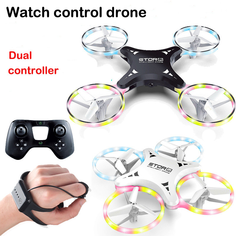 Indução Brinquedos Zangão Quadcopter Led RTF UAV Aeronave Relógio Inteligente câmera HD fpv Zangão UFO Controle Remoto Presente dos miúdos