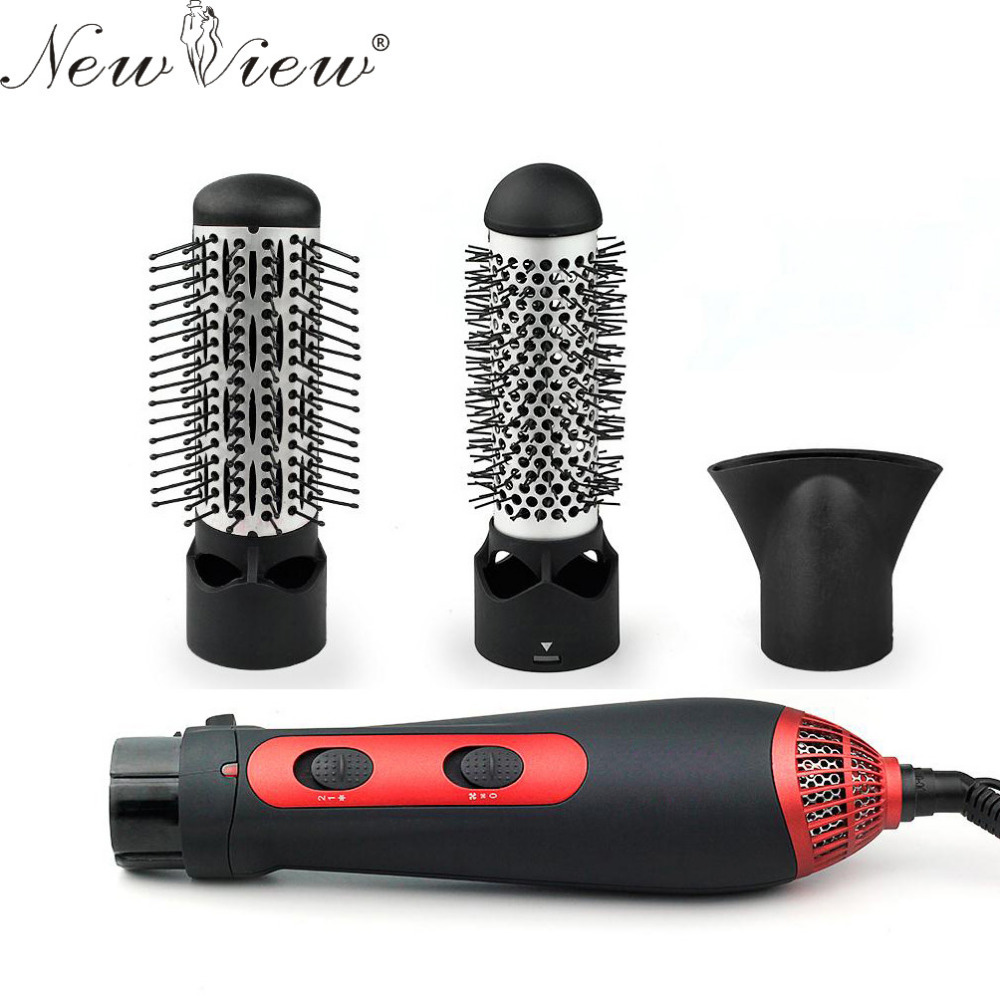 3-in-1 Multifunctional Styling Tools Hairdryer Hair Curler Hair Dryer Blow Dryer Comb Brush Hairbrush Professinal Salon 1200W simple style solid colour and zip design shoulder bag for women