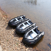 Hider HA 360 inflatable family fishing boat rubber boat PVC material with oar pump repair kit and bag