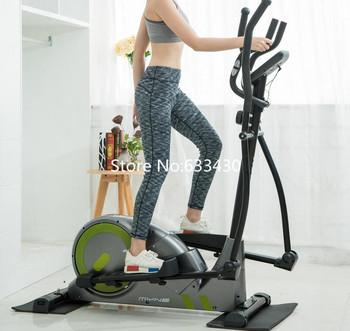 Stacjonarne trenażery eliptyczne regulowane rowery treningowe do kulturystyki domowej maszyny eliptyczne z pulsometrem tanie i dobre opinie YAOSEN 120kg Green Orange