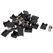 10 шт. 5-контактный micro usb тип b штекер разъем пластиковая крышка