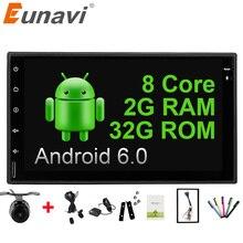 """Eunavi Universal 7 """"Octa core 2 din Android 6.0 Radio de Coche Doble 2Din 1024*600 autoradio Navegación GPS BT car Stereo pc 2G RAM"""