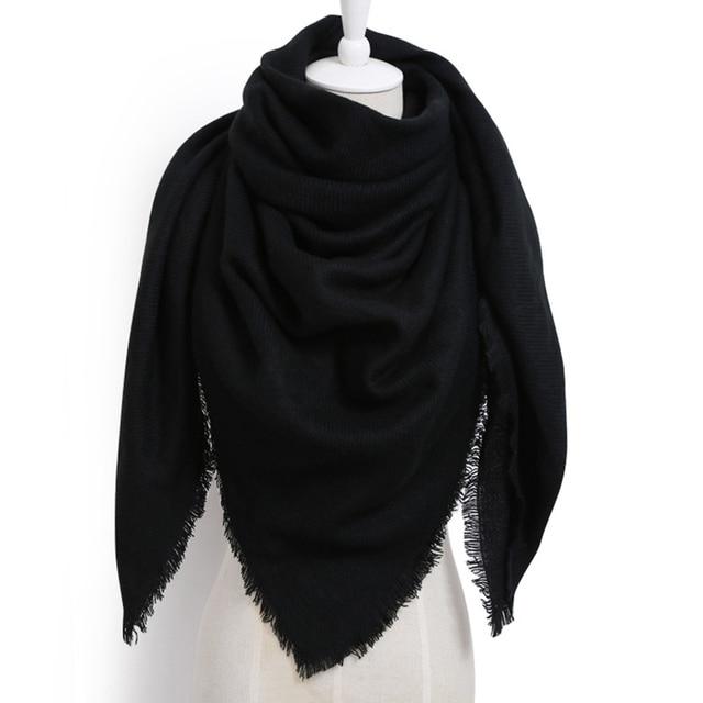 Imitation Scarves Cashmere Women Winter Shawls Scarf Wool Triangle Bandage B