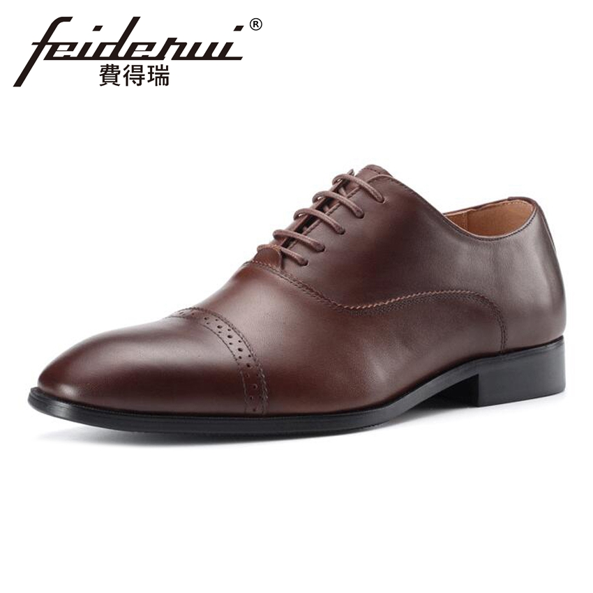 Plus Size British Formal Dress Genuine Leather Men's Carved Oxfords Luxury Handmade Pointed Toe Wedding Party Brogue Shoes MLT62 skp151custom made goodyear 100% genuine leather handmade brogue shoes men s handcraft dress formal shoes large plus size