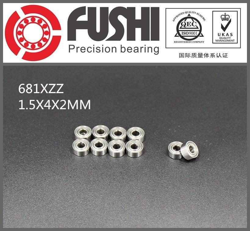 681XZZ Bearing ABEC-5 10 PCS 1.5x4x2 mm L-415ZZ W68/1.5ZZ/ Miniature 681X ZZ Ball Bearings 1pcs 71822 71822cd p4 7822 110x140x16 mochu thin walled miniature angular contact bearings speed spindle bearings cnc abec 7