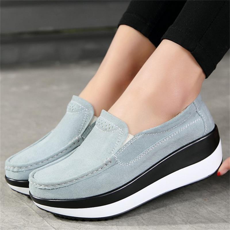 Señoras zapatos de Los Planos Ocasionales de la Plataforma de Las Mujeres Zapatos Mocasines Blandos Sólidos de Las Señoras Zapatos de Las Mujeres Del Verano Transpirables Pisos Calzado DDT1478