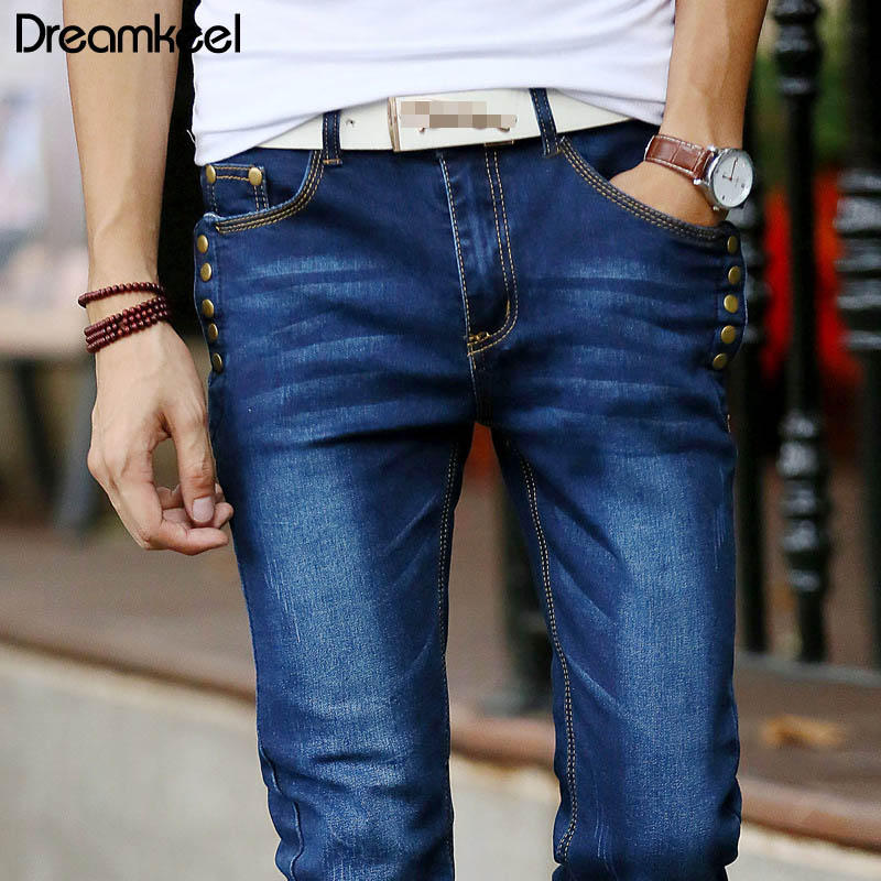 Jeans Business Casual Stretch Slim Jeans Classic Trousers Denim Pants Male 2019 New skinny jeans men cotton Fashion Y