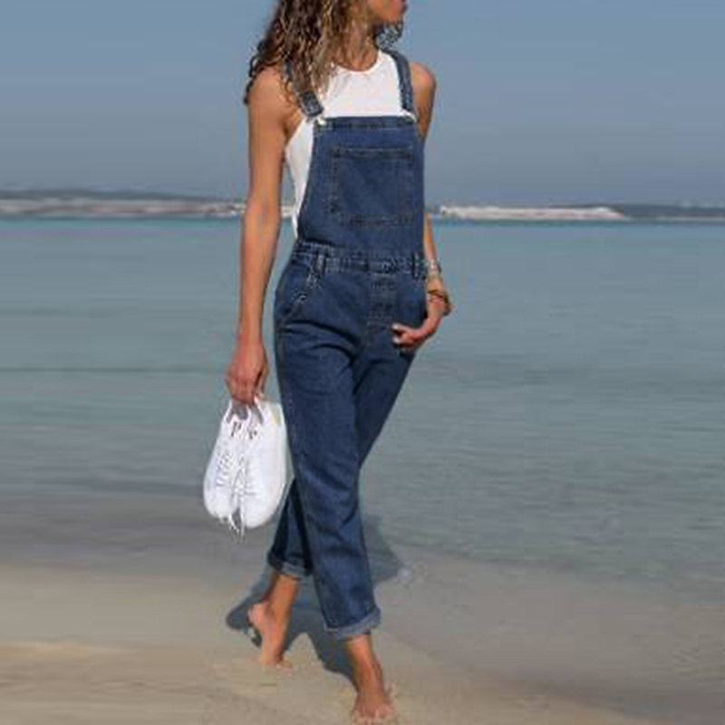 Womens Jeans Woman Fashion Baggy Denim Pants Dungarees Ladies Slim Fit Jeans Female Overall Jumpsuits Pants Casual Long Trousers