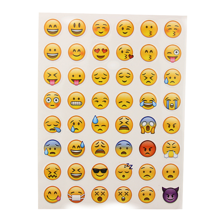 Cellphones & Telecommunications Cut Stickers Hot Popular Sticker 48 Emoji Smile Face Expression Stickers For Notebook Message Twitter Large Viny Attractive Appearance