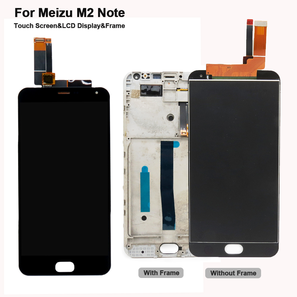 For Meizu M2 Note LCD Display + Digitizer Touch Screen Digitizer With Frame Assembly For Meizu M2 Note 5.5inch Cell Phone Parts