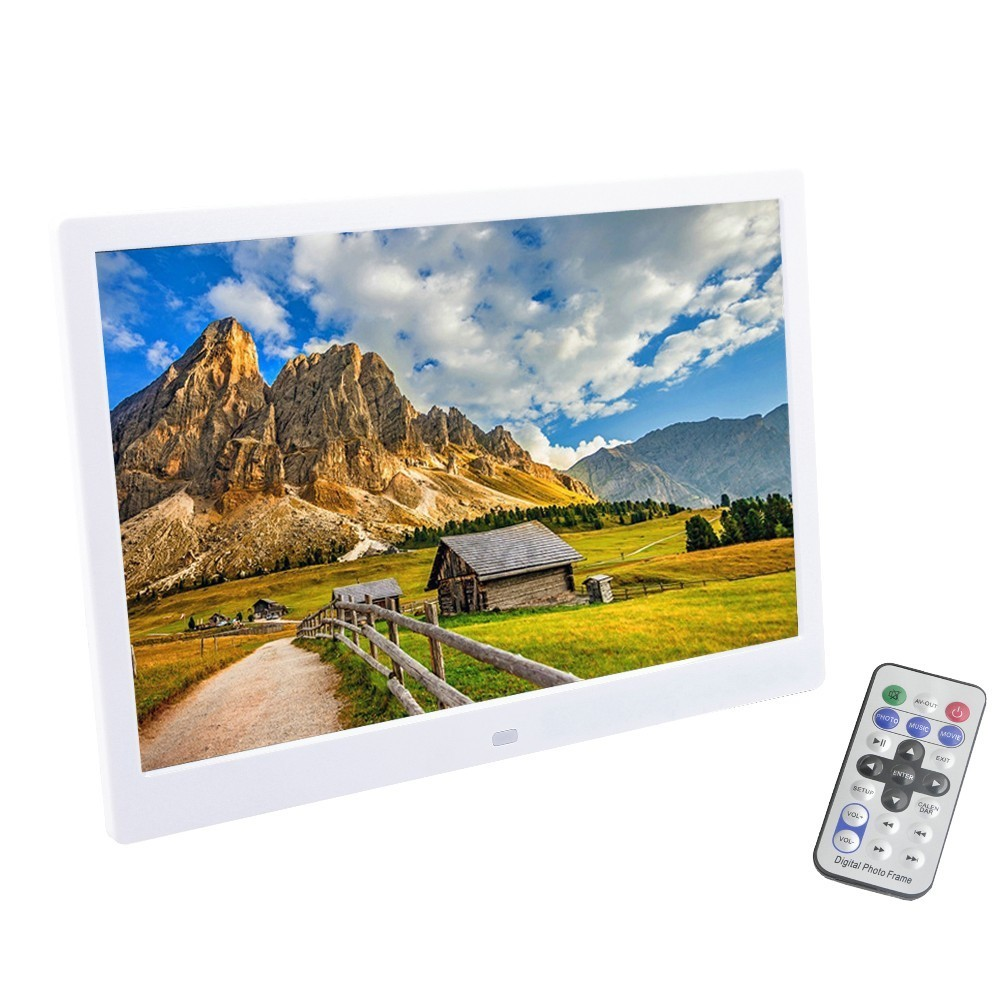 Liedao 12 Inch TFT Screen LED Backlight HD 1280*800 Digital Photo Frame Electronic Album Picture Music Video Full Function 10 inch tft screen led backlight hd digital photo frame electronic album full function photo music video good gift