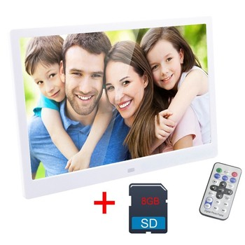 15 Inch Digital Photo Frame 8 GB LED Backlight High-Definition 1280 X 800 Electronic Album Picture Music Video Good Gift