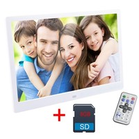 15 Inch Digital Photo Frame 8 GB LED Backlight High Definition 1280 X 800 Electronic Album Picture Music Video Good Gift