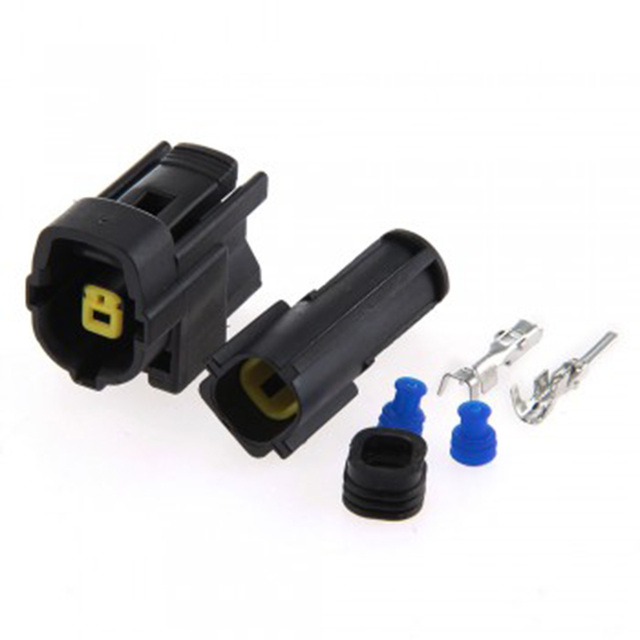 Dewtreetali Promotions 2 Sets Auto 1 Pin Way Male & Female Waterproof Electrical Wire Cable Connector Plug