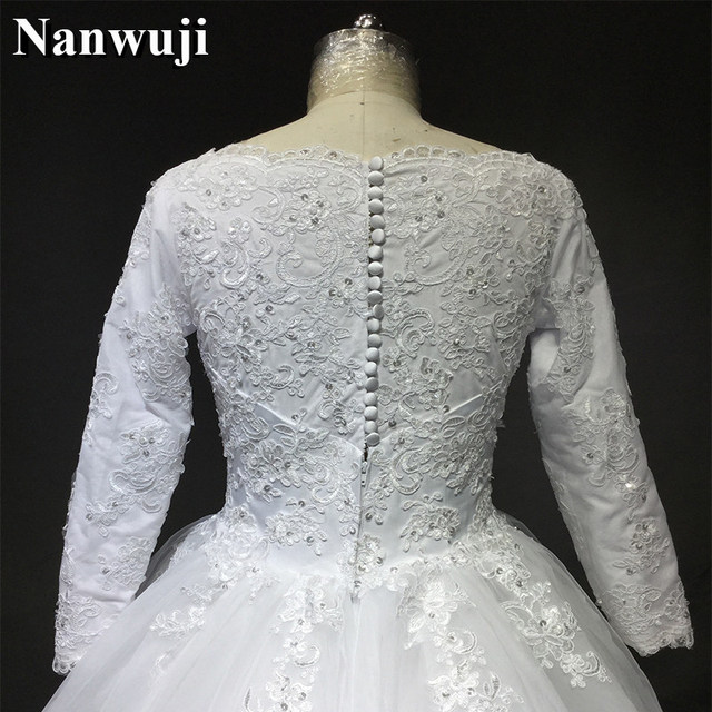 Online Shop 2017 Muslim Traditional Wedding Dress Long Sleeves ...