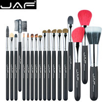 JAF 18 Pcs Make Up Brush Set Natural Super Soft Red Goat Hair & Pony Horse Hair Studio Beauty Artist Makeup Brushes J1813AY-B