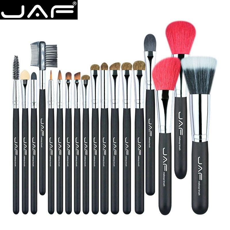 JAF 18 pcs Make Up Brush Set Naturel Super Doux Rouge De Chèvre Cheveux & Poney Cheval Cheveux Studio Beauté Artiste maquillage Brosses J1813AY-B