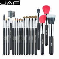 Jaf 18 Pcs Make Up Brush Set Naturale Super Soft Red Pelo di Capra E di Cavallo Pony Capelli Studio Beauty Artista spazzole di Trucco J1813AY-B