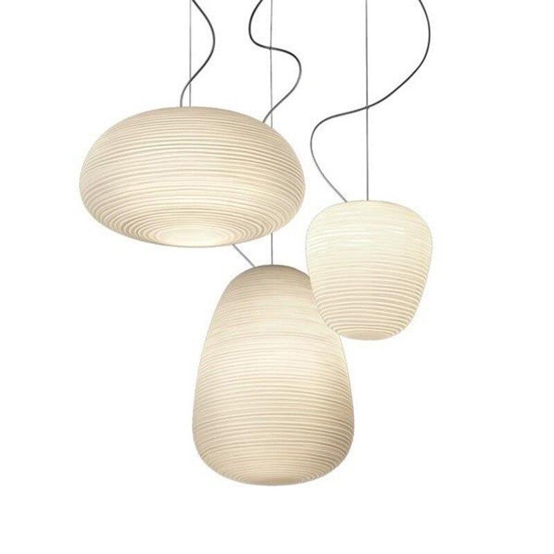 Lampe suspendue nordique créative en verre blanc Whorls Foscarini rituel E27 suspension pour salle à manger salon Bar Restaurant