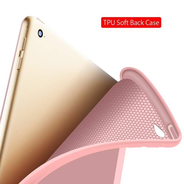 Portable Leather Smart Case for iPad 4
