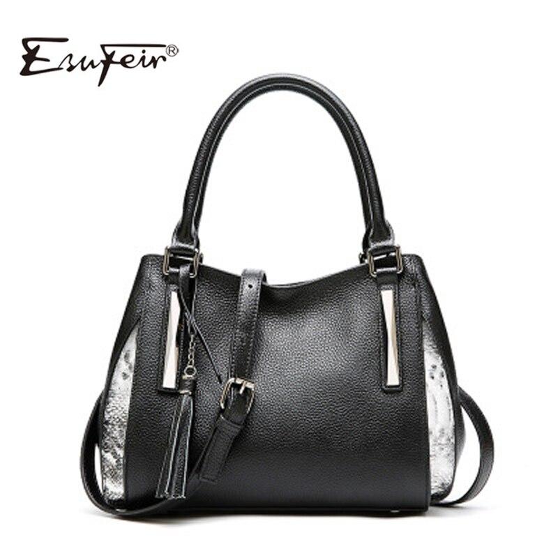 Genuine Leather Female Bag For Women 2019 Fashion Tassel Luxury Design Women Shoulder Bag Large Capacity