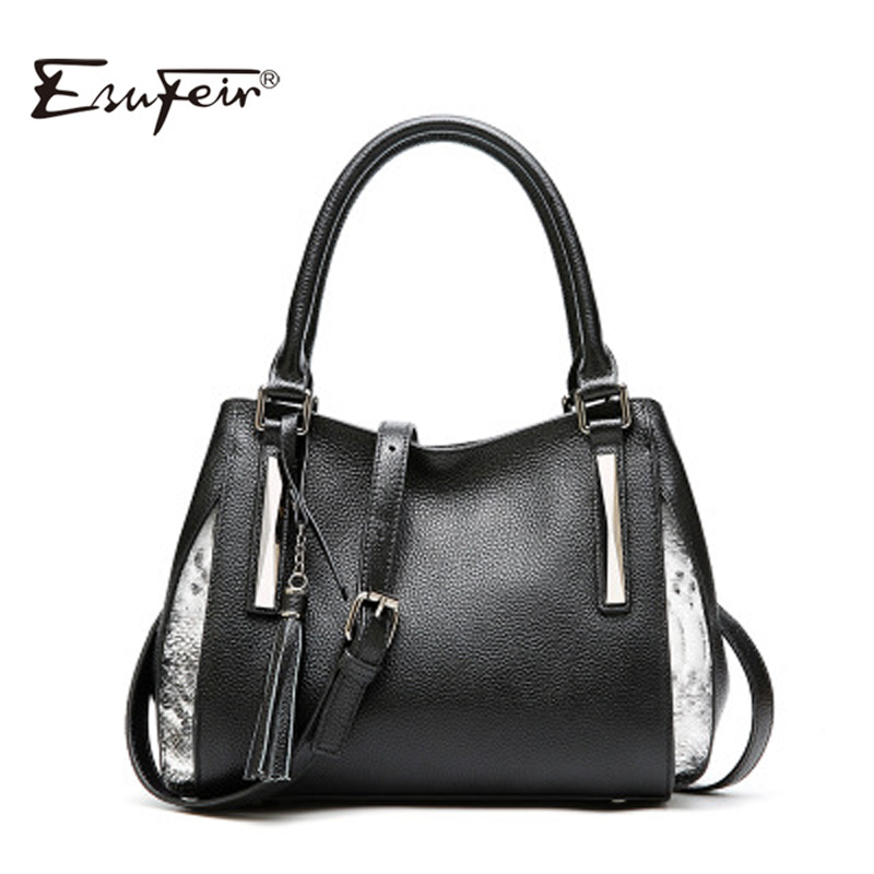 Genuine Leather Female Bag For Women 2018 Fashion Tassel Luxury Design Women Shoulder Bag Large Capacity Lady Messenger Tote Bag цена