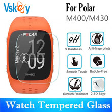 VSKEY 100PCS Tempered Glass for Polar M430 Screen Protector for Polar M400 Sport Smart Watch Anti Scratch Protective Film
