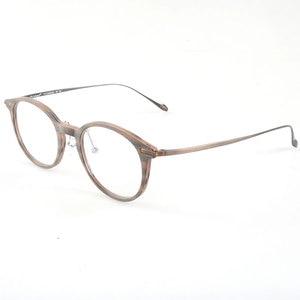 Image 3 - En iyi kalite ahşap şerit titanium gözlük çerçeveleri reçete gözlük veya dekorasyon