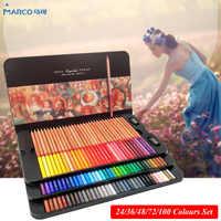 Marco Renoir 24/36/48/72/100 juego de colores para artistas lápices de colores lapisde co dibujo profesional lápices para dibujar