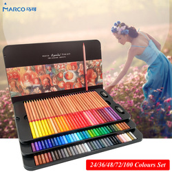 Marco Renoir 24/36/48/72/100 zestaw kolorów artysty kolorowe kredki de cor profesjonalny rysunek kolor ołówki do rysowania na