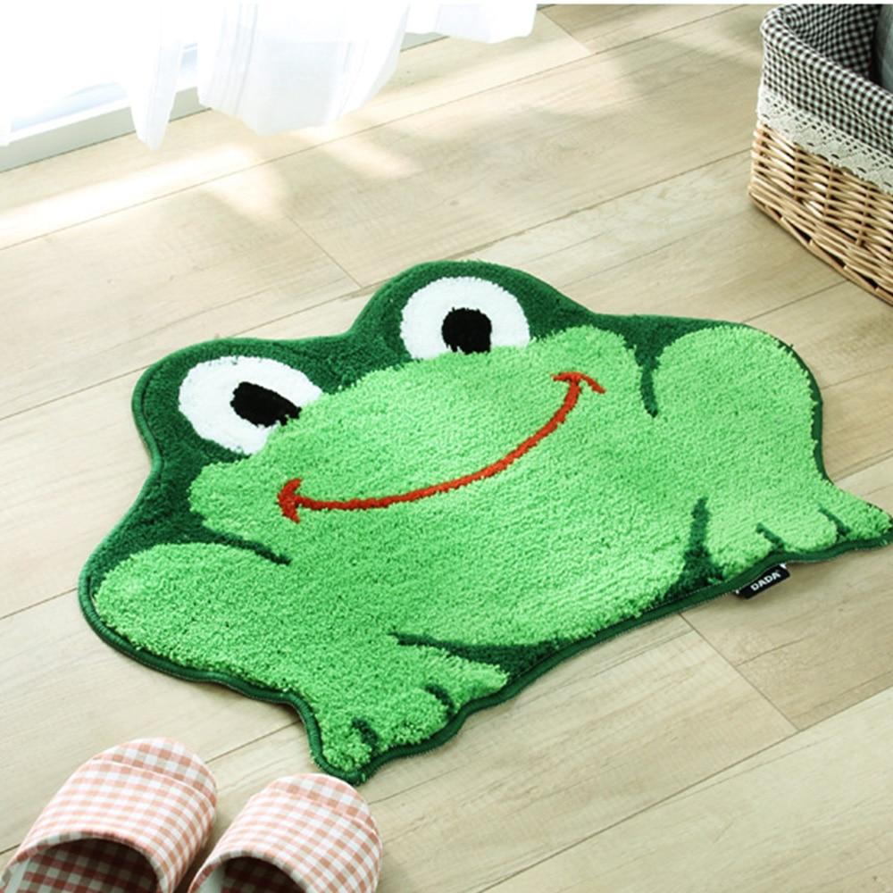 Creative 3D Frog Carpet Non Skid Porch Bath Absorb Water