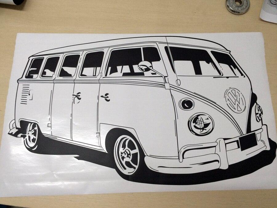 Large Car VW Sticker Volkswagon Camper Van Retro Hippy Classic Wall ...