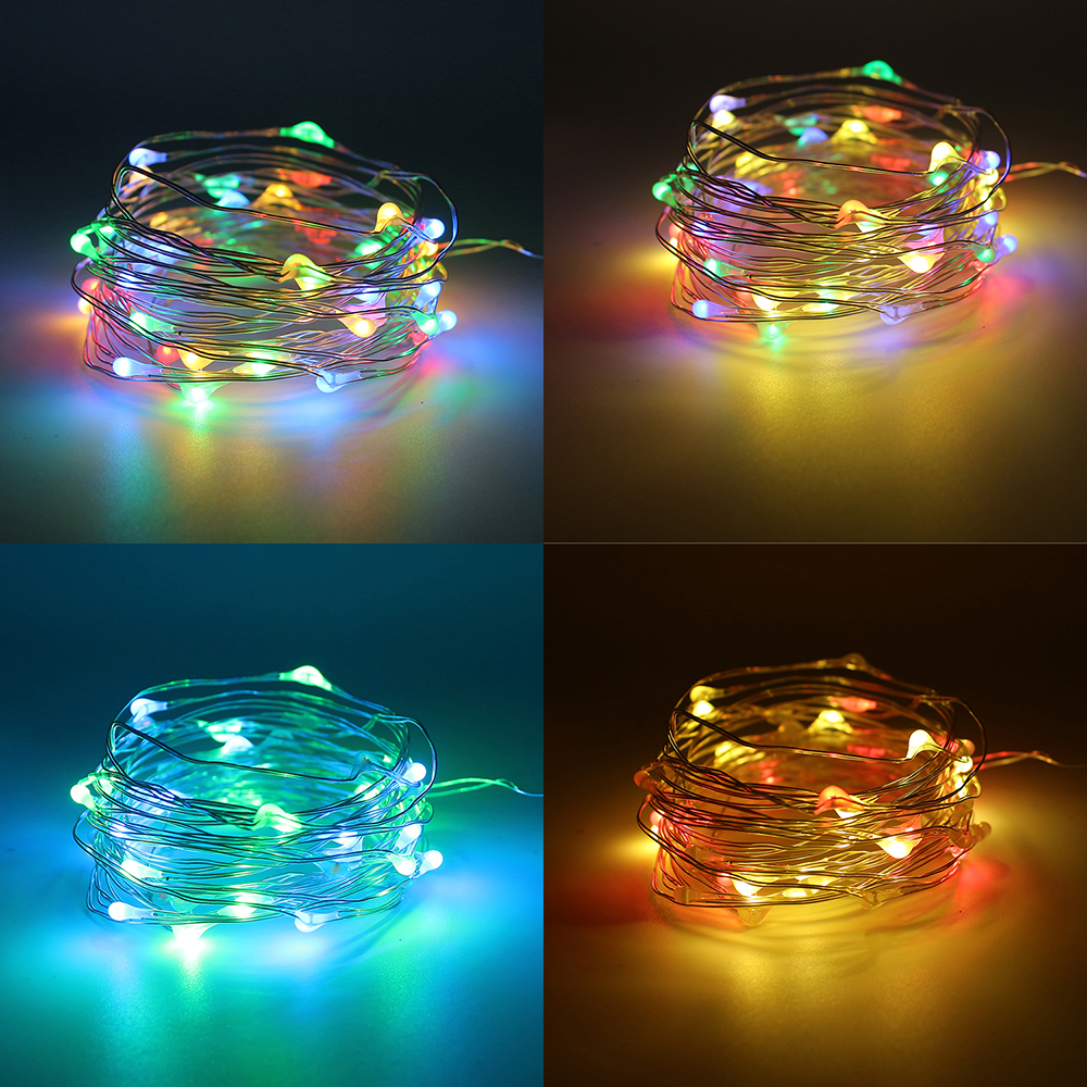 10m 100 LED Kobber Wire AA Batteridrevet String Fairy Light - Ferie belysning - Bilde 1